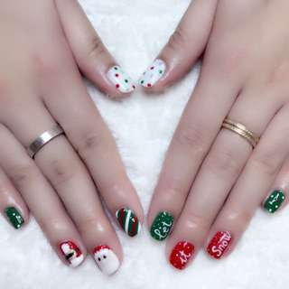 Christmas design including classic gel manicure $40