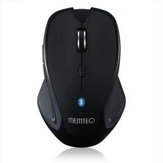 MEMTEQ Wireless Bluetooth 3.0 6D 1600DPI Optical Gaming Mouse Mice for Laptop Computer - Black