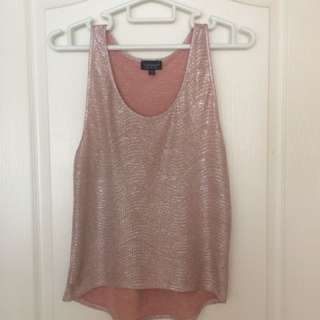 Rose gold TopShop top S