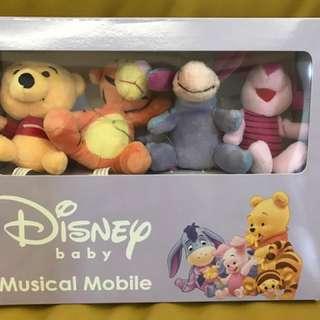 Disney 迪士尼 可愛卡通布偶 音樂旋轉鈴/床鈴音樂鈴