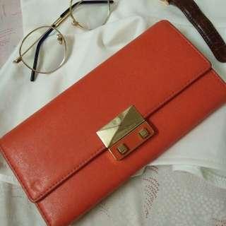 Charles & Keith Orange Wallet