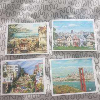 San Francisco artwork postcards