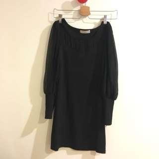 🚚 黑色 合身洋裝