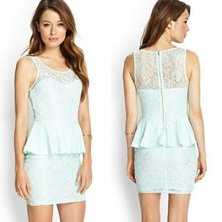 Forever 21 peplum lace dress