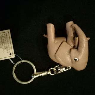 皮革象鑰匙圈