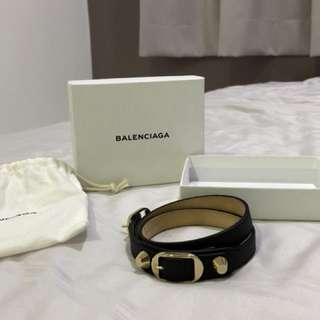 Balenciaga leather bracelet