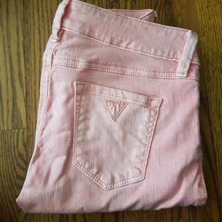 Light Pink Guess Skinny Jeans