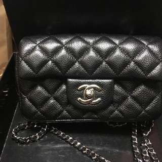 Chanel classic mini 牛皮