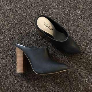 Design Lab Leather Mule Heels