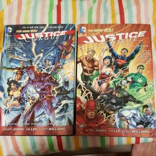 Justice League vol. 1 and 2 Hardcover