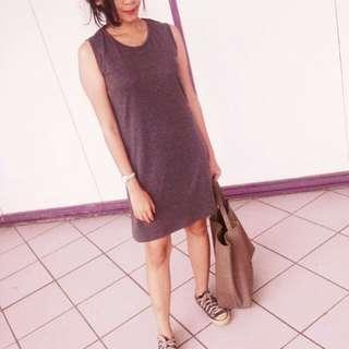 No brand grey dress