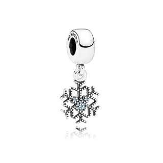 💯 Pandora Mickey Snowflake Charm