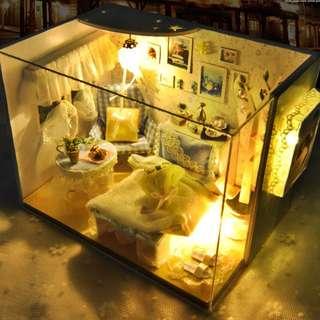 Photo Frame DIY mini House christmas gift Ready stock 现货 Music box