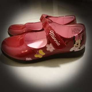 Disney Minnie Girl's red shining shoes