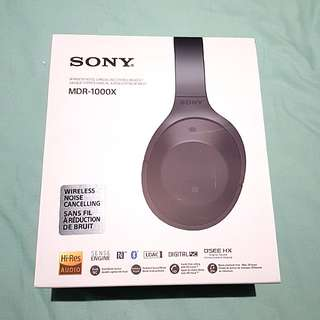 接近全新SONY MDR-1000X降噪藍牙耳機