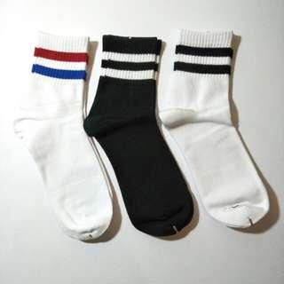 OS socks (3 pairs package) varsity socks, striped socks