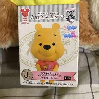 維尼熊公仔一番賞j賞全新未拆