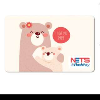 Limited Edition Panda family Ezlink Nets Flashpay