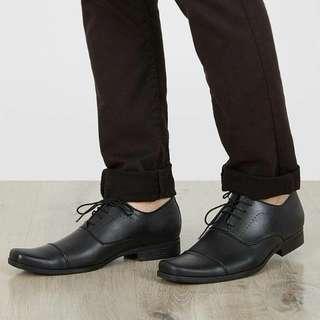 [new&free ongkir] Sepatu Edberth Velletta Pantopel Hitam Pria