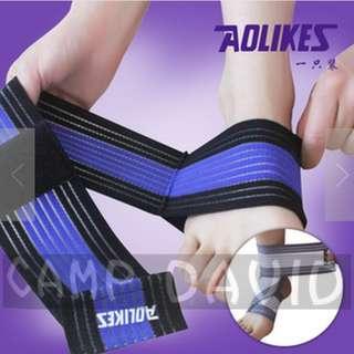 【安琪館】 AOLIKES 原廠正品 醫用級 高彈力繃帶 70cm 護踝 運動繃帶 套頭款