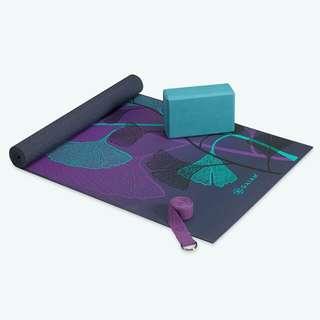 [PREORDER] Gaiam Yoga For Beginners Kit - Teal/Purple