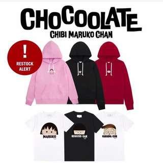 返貨了💓全新正品Chocoolate x 櫻桃小丸子連帽衛衣T恤上衣