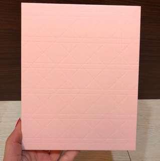 特惠限量正品Dior迪奧經典菱格紋筆記本 粉