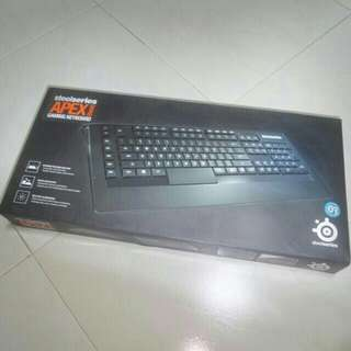 Steelseries APEX (RAW) Gaming Keyboard.