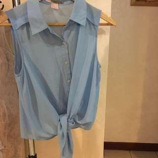 Blue Sleevless