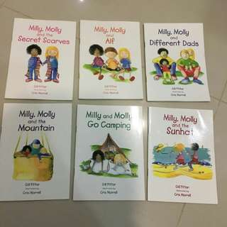 $7 for 6 books of Milly , Molly series