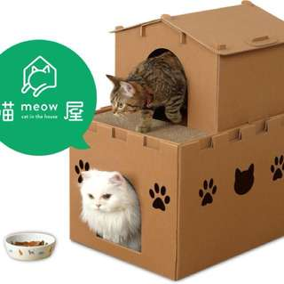 喵屋 城堡貓屋 瓦楞紙 組裝貓屋 貓房子 貓用品