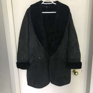 Vintage Hide Society Oversized Sherpa Lined Coat