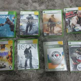 8 XBOX 360 VIDEO GAMES