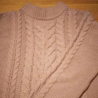 Uniqlo blush pink sweater dress