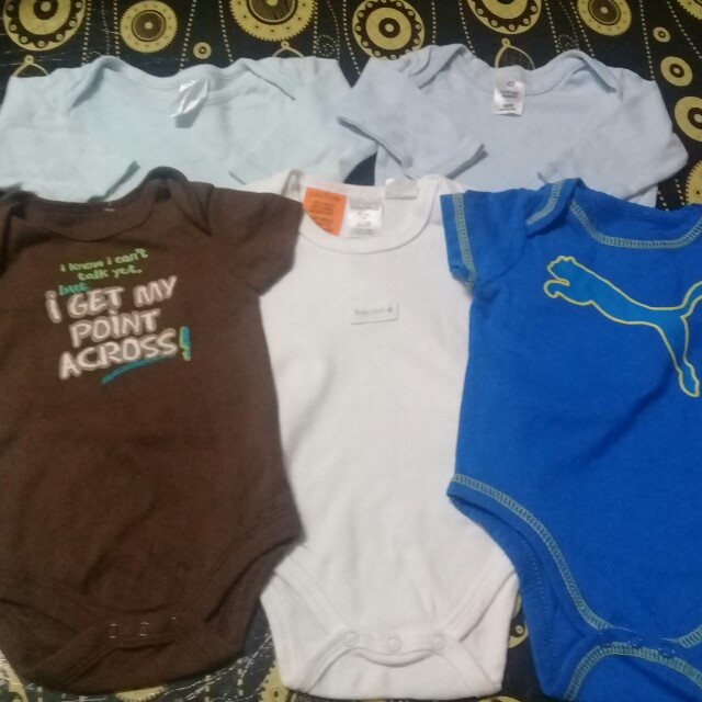 FREE POSTAGE!! 0-3 months 5pcs Boy Rompers