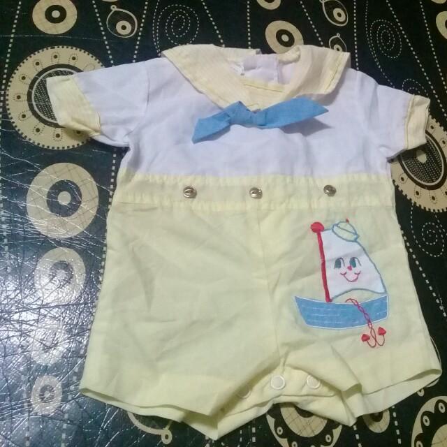 0-3 months Sailor Romper