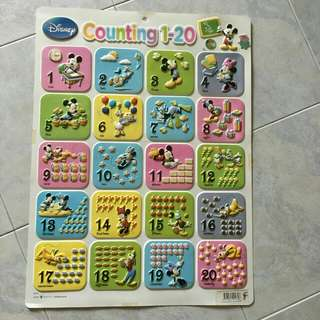 $2.50 3D numbers wall chart