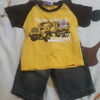 Kiko Short Pants & T-shirt 1-2y