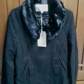 全新毛呢厚西裝外套