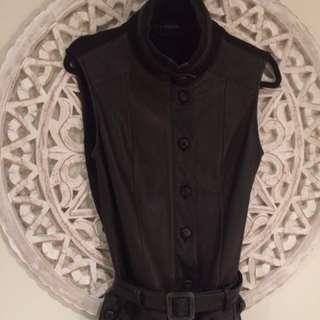 Leather Vest Dress