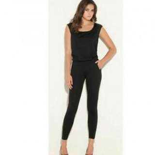 Guess Black Squine Jumpsuit