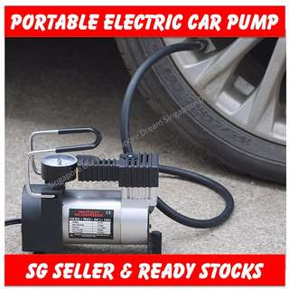 Heavy Duty Portable 12V 100PSI Tyre Air Pump / Tyres Compressor / Emergency Tires Inflator