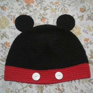 Made To Order Crochet Mickey Mouse Hat