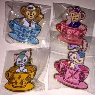 迪士尼 徽章 DISNEY PIN 旋轉杯 TEA CUP duffy shelliemay gelatoni stella lou