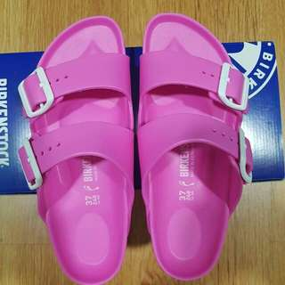 Birkenstock Eva Arizona in Neon Pink