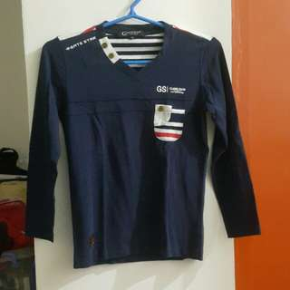 Branded Navy Blue Long Sleeve Shirt