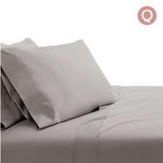 4 Piece Cotton Bed Sheet Set Queen Grey SKU: SHEET-CT-SOLID-Q-GR
