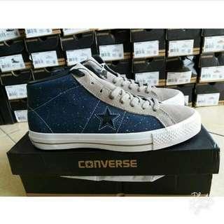 Sepatu Converse One Star Pro Mid Suede Obsidian Original