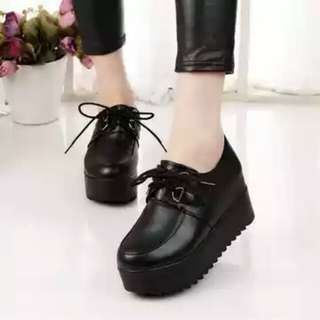 Lace Thick-bottomed Platform Shoes