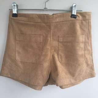 Suede vintage shorts